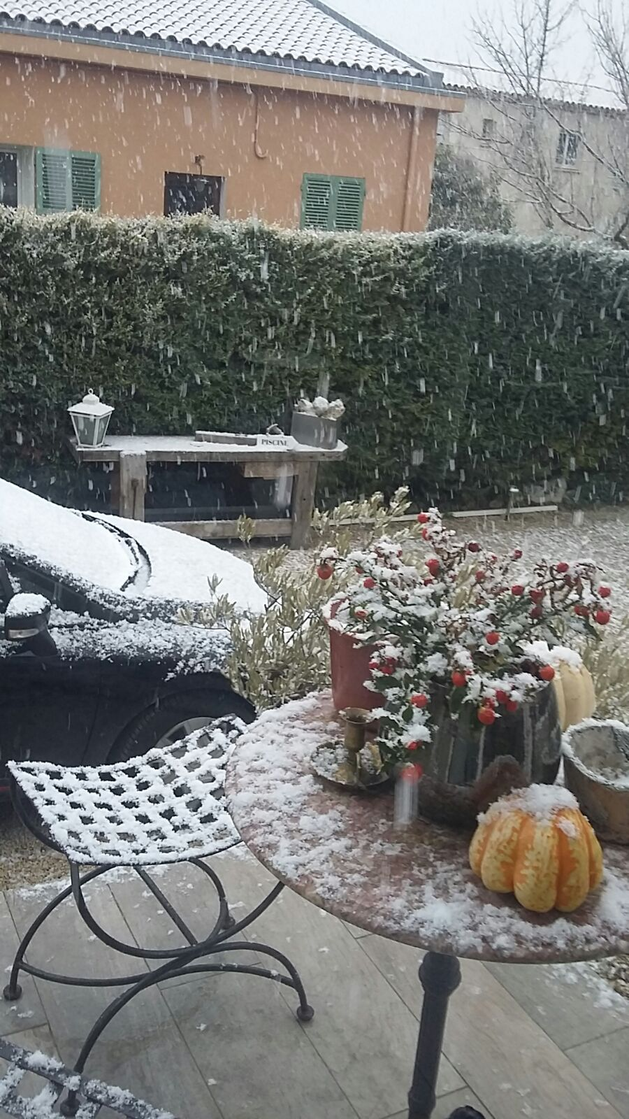 This picture shows that even in Aix en Provence, it is possible to get some snow! Admittedly, it is a rare event